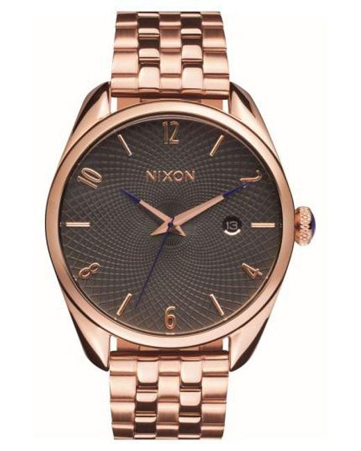 Nixon   Pink 'bullet' Guilloche Dial Bracelet Watch   Lyst