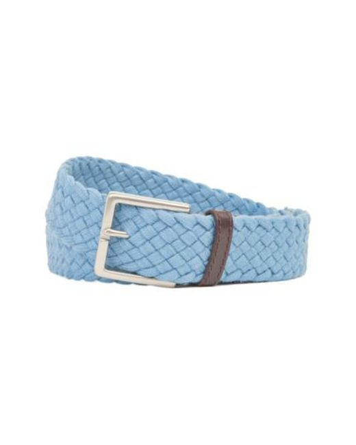 Tommy Bahama | Blue Braided Cotton Belt for Men | Lyst