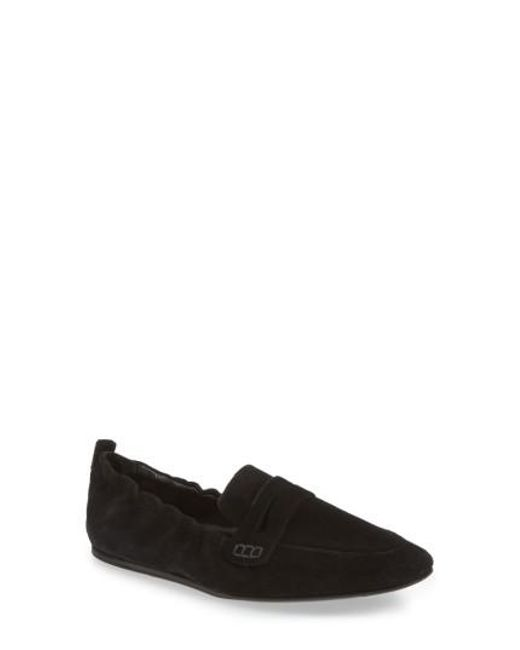 Charles David | Black Milly Elastic Loafer Flat | Lyst