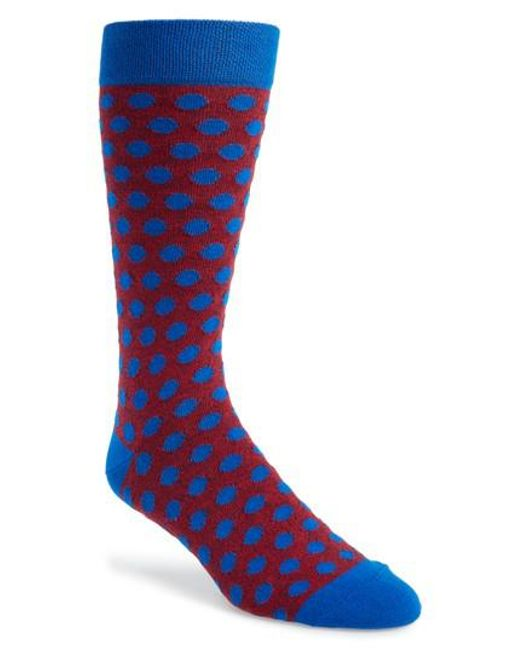Ted Baker - Blue Spot Socks for Men - Lyst