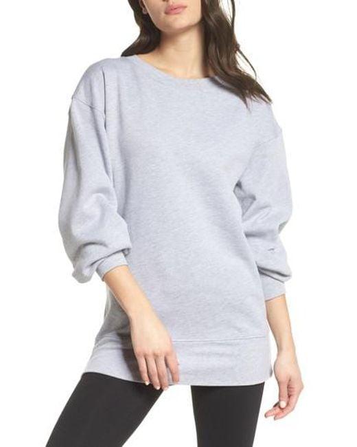 Zella - Gray Boxy Oversize Sweatshirt - Lyst