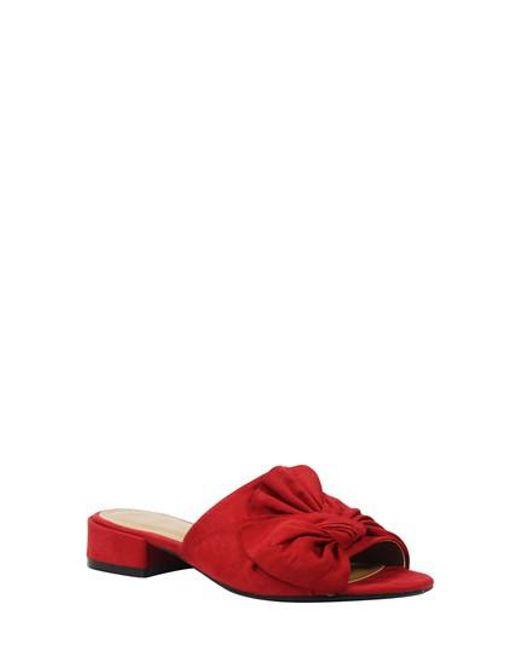 J. Reneé - Red Sattuck Slide Sandal - Lyst