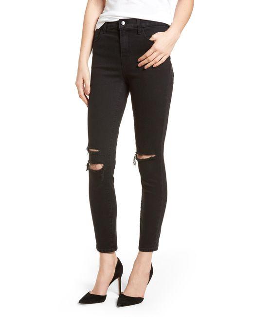 J Brand - Black Alana High Waist Ankle Skinny Jeans - Lyst