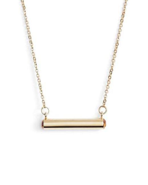 Stella Valle | Metallic Stella Vale November Crystal Bar Pendant Necklace | Lyst