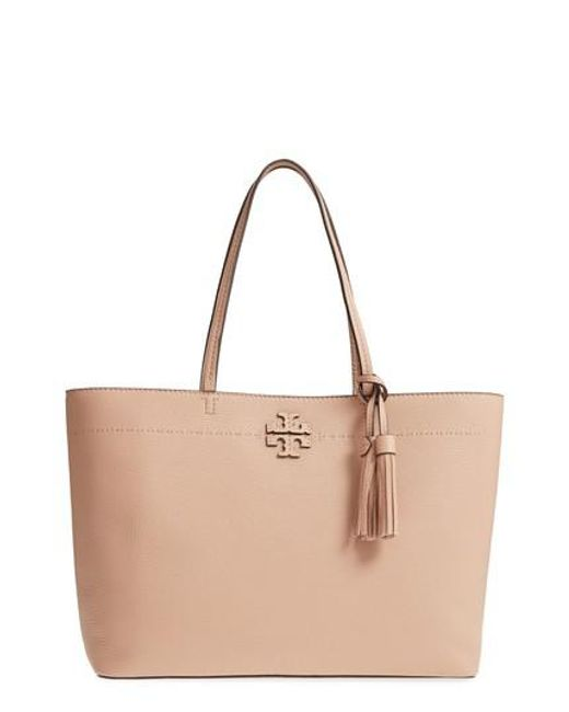 Tory Burch - Blue Mcgraw Leather Tote - Lyst