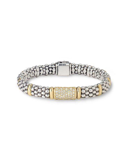 Lagos - Metallic Pave Diamond Bracelet - Lyst