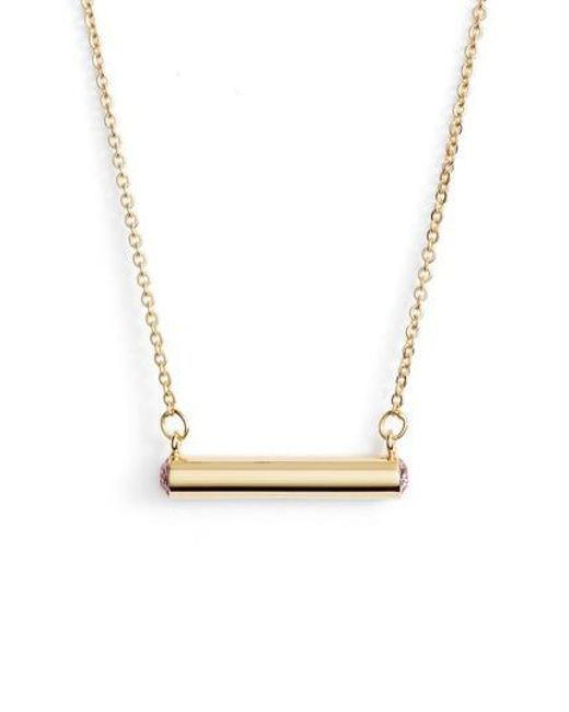 Stella Valle | Metallic Stella Vale October Crystal Bar Pendant Necklace | Lyst