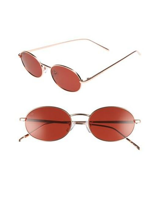 Privé Revaux - Red X Madelaine Petsch The Candy 50mm Round Sunglasses - Lyst