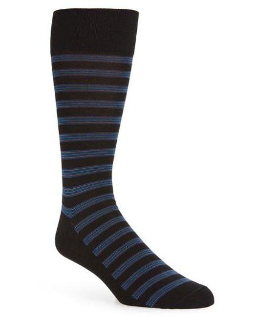 Calibrate - Black Stripe Socks for Men - Lyst