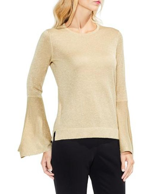Vince Camuto | Natural Bell Sleeve Sweater | Lyst