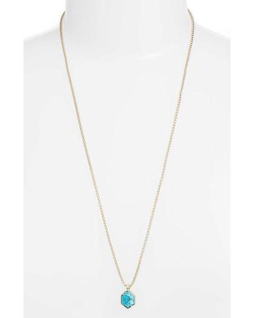 Kendra Scott - Metallic Teo Semiprecious Pendant Necklace - Lyst