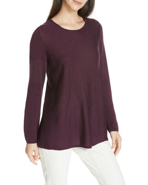Eileen Fisher - Purple Lyocell & Silk Sweater - Lyst