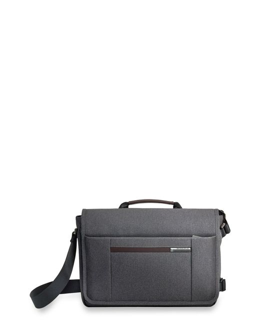 Briggs & Riley - Gray 'kinzie Street - Micro' Messenger Bag for Men - Lyst