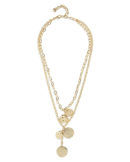 BaubleBar - Metallic Talia Layered Pendant Necklace - Lyst
