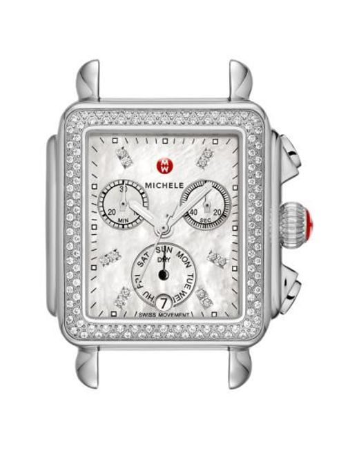 Michele - Metallic Deco Diamond Diamond Dial Watch Head - Lyst