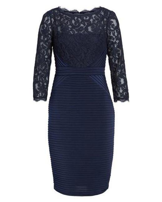 Adrianna Papell   Blue Lace & Jersey Sheath Dress   Lyst