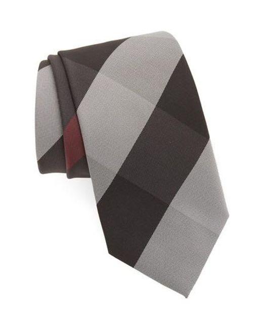 Burberry - Gray Clinton Silk Tie for Men - Lyst