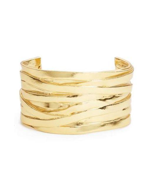 Karine Sultan | Metallic Angelique Wrist Cuff | Lyst