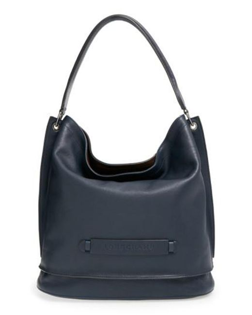 Longchamp - Blue '3D' Leather Hobo - Lyst