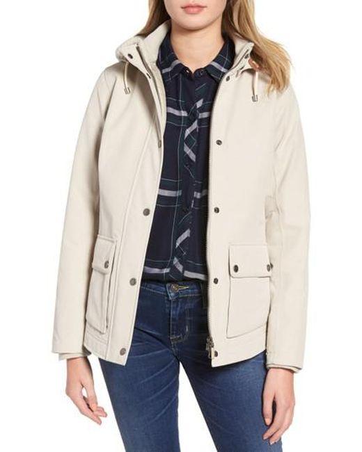 Barbour | Blue Seaton Hooded Waterproof Jacket | Lyst