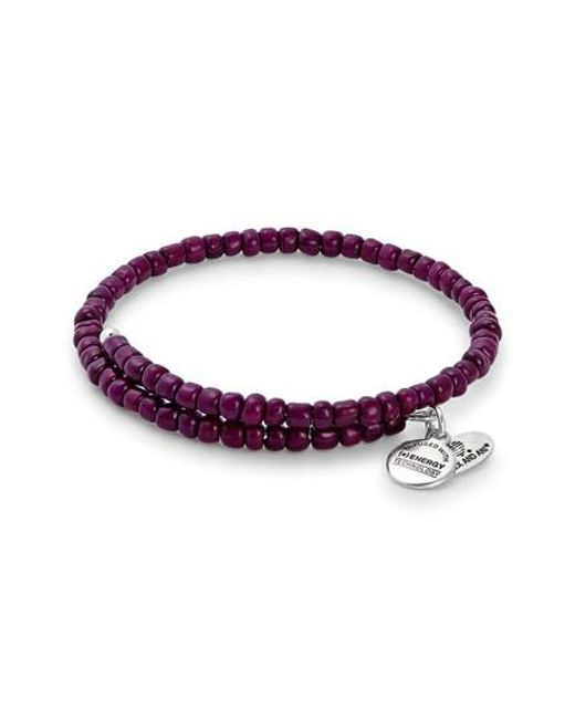 ALEX AND ANI | Purple Primal Spirit Wrap Bracelet | Lyst