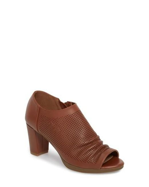 Bella Vita - Brown Liza Open Toe Bootie - Lyst