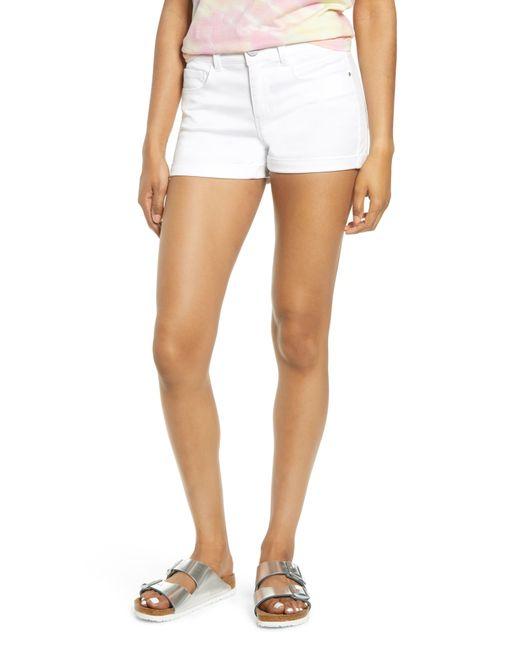Tinsel White Cuffed Shorts