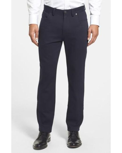 Vince Camuto - Blue Sraight Leg Five Pocket Stretch Pants for Men - Lyst