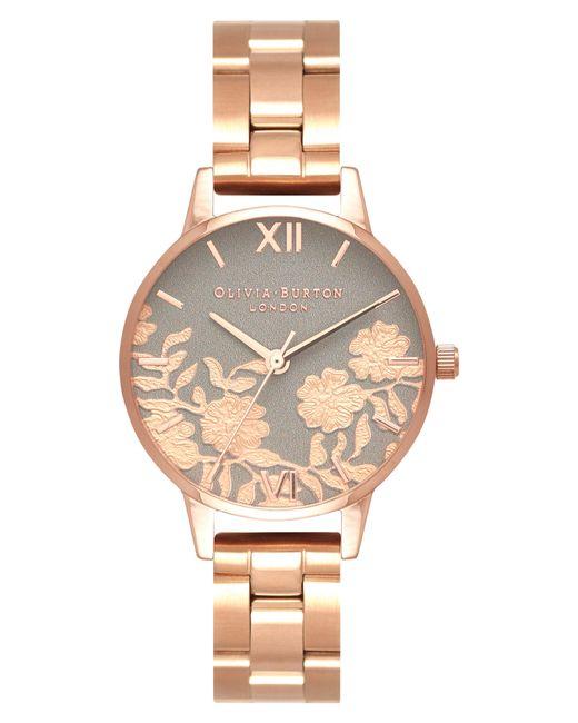 Olivia Burton - Metallic Lace Detail Bracelet Watch - Lyst