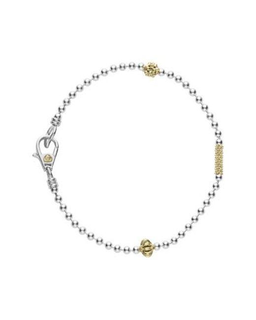 Lagos | Metallic Caviar Icon Single Strand Bracelet | Lyst