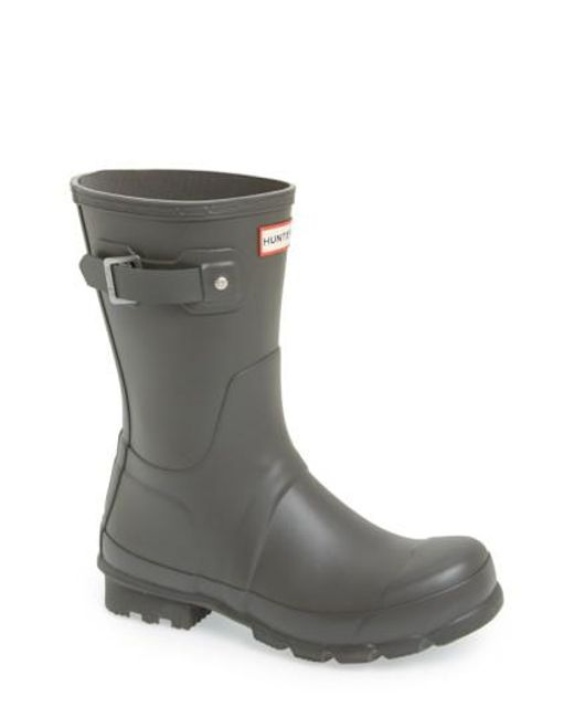 Hunter | Blue 'original Short' Rain Boot for Men | Lyst