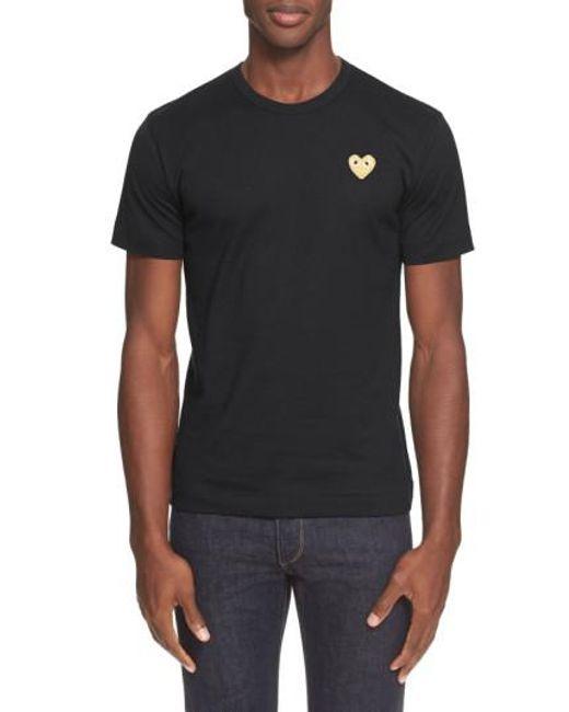 Play Comme des Garçons - White Crewneck T-shirt for Men - Lyst