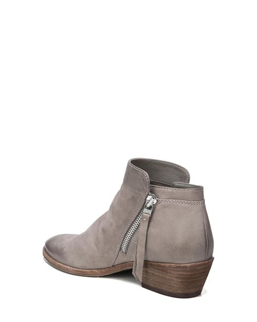 81e424278 ... Sam Edelman - Gray Packer Leather Block Heel Booties - Lyst