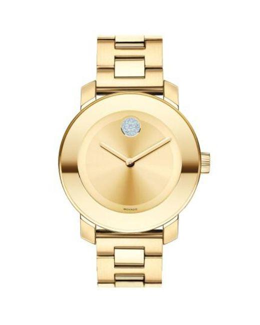 Movado - Metallic 'bold' Crystal Marker Bracelet Watch - Lyst