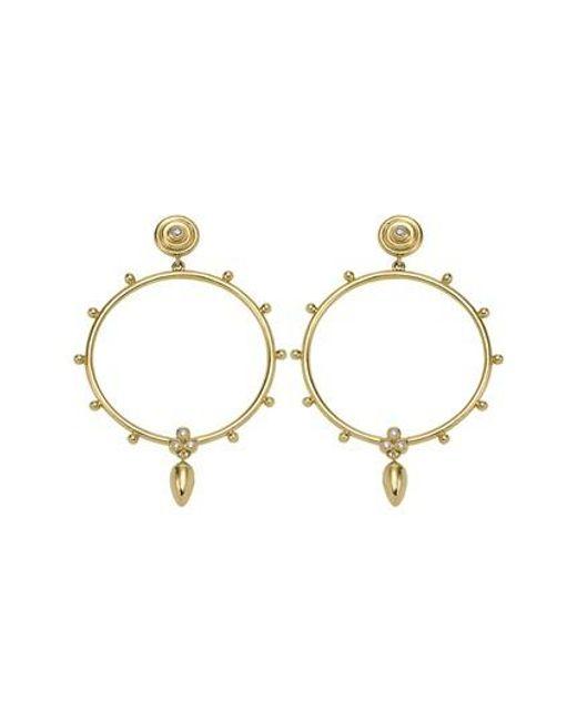 Temple St. Clair - Metallic 18k Gold & Diamond Circle Anfora Earrings - Lyst