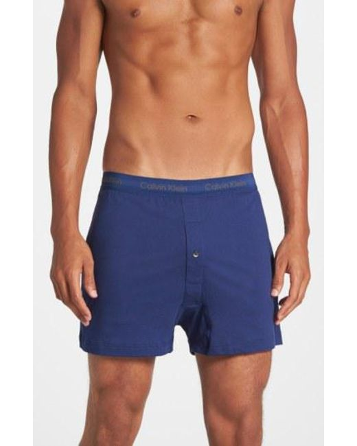CALVIN KLEIN 205W39NYC - 3-pack Cotton Boxers, Blue for Men - Lyst