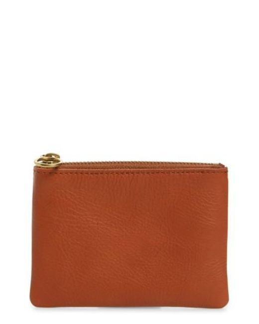 Madewell | Brown Small Victory Leather Pouch | Lyst