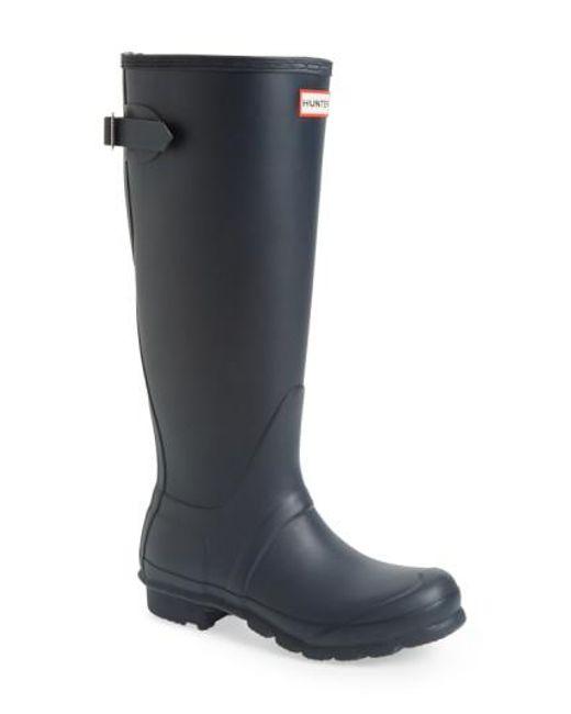 Hunter | Blue Adjustable Calf Rain Boot | Lyst