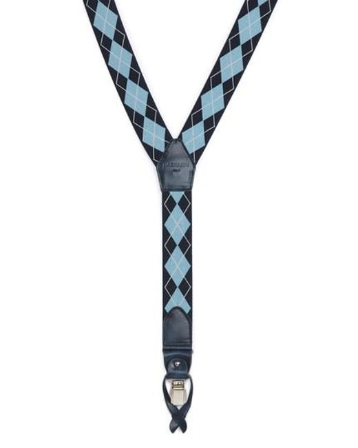 Magnanni Shoes   Blue Diamond Suspenders for Men   Lyst