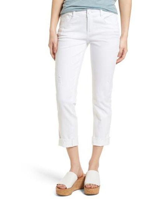 Wit & Wisdom - White Flex-ellent Cuffed Boyfriend Jeans - Lyst