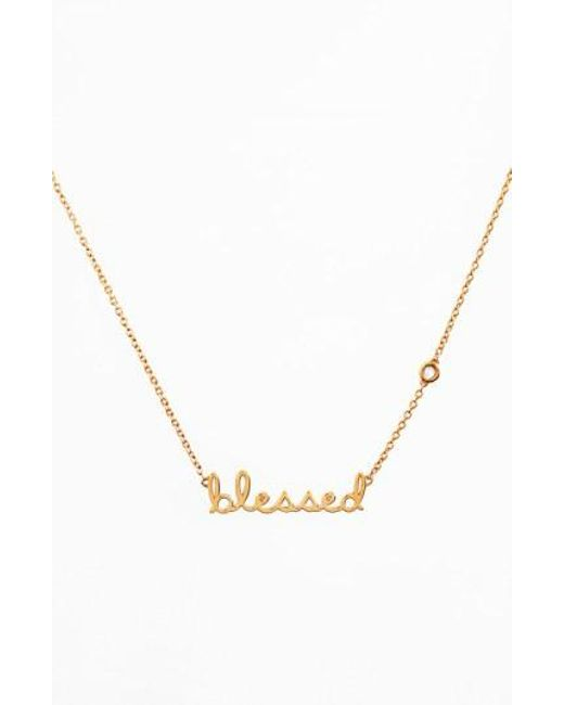 Shy By Sydney Evan - Metallic 'blessed' Necklace - Lyst