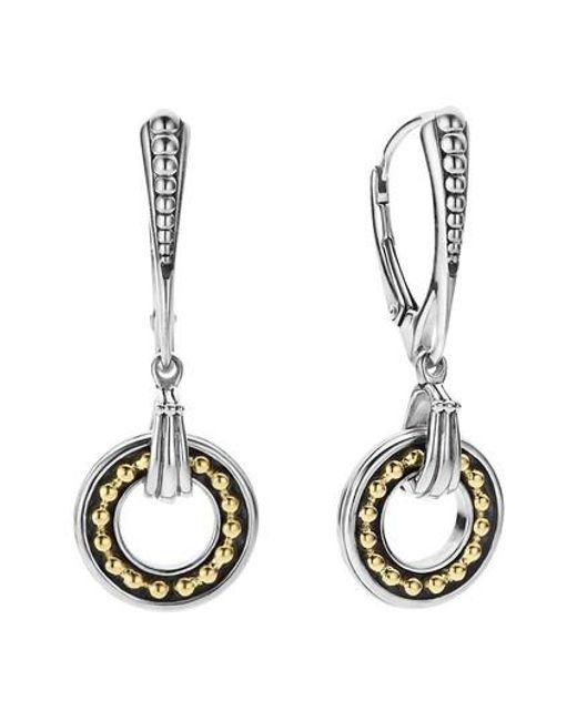 Lagos | Metallic Enso Two Tone Drop Earrings | Lyst