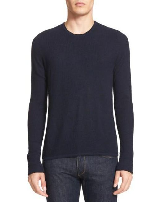 Rag & Bone | Blue 'giles' Lightweight Merino Wool Pullover for Men | Lyst