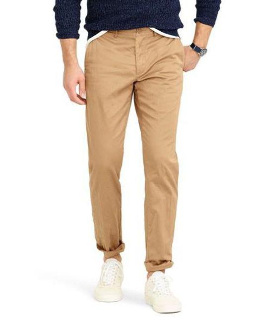 J.Crew - Brown J.crew 484 Slim Fit Stretch Chino Pants for Men - Lyst