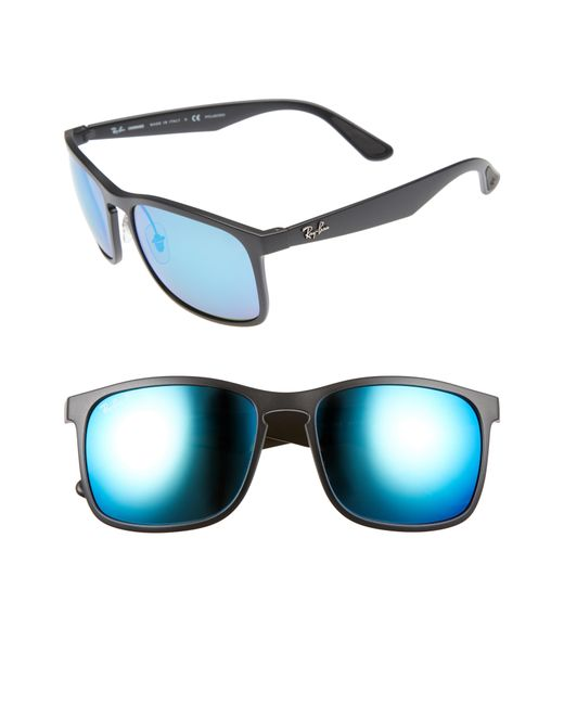 Ray-Ban - Blue 58mm Polarized Sunglasses for Men - Lyst