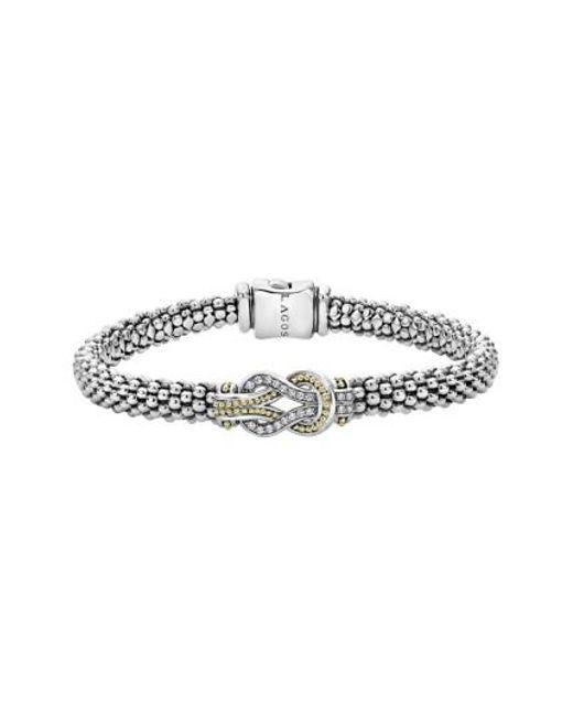 Lagos | Metallic 'newport' Diamond Knot Bracelet | Lyst