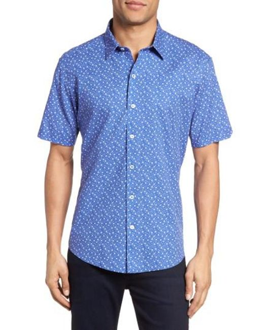 Zachary Prell - Blue Rashid Print Sport Shirt for Men - Lyst