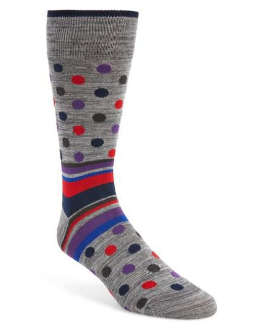 Bugatchi | Multicolor Dot & Stripe Socks for Men | Lyst