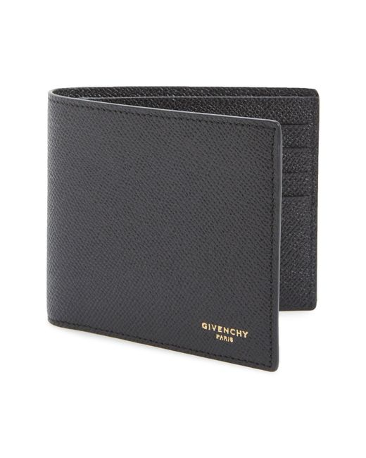 Givenchy - Black Calfskin Leather Bifold Wallet for Men - Lyst