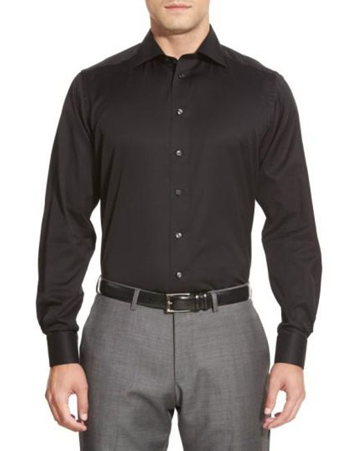 Eton of Sweden - Black Contemporary Fit Solid Dress Shirt for Men - Lyst